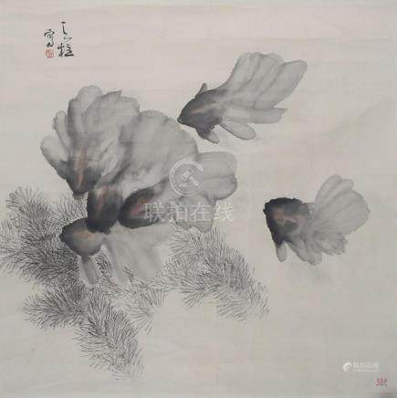 QING TIAN ZHUCHINESE PAINTING ATTRIBUTED TO