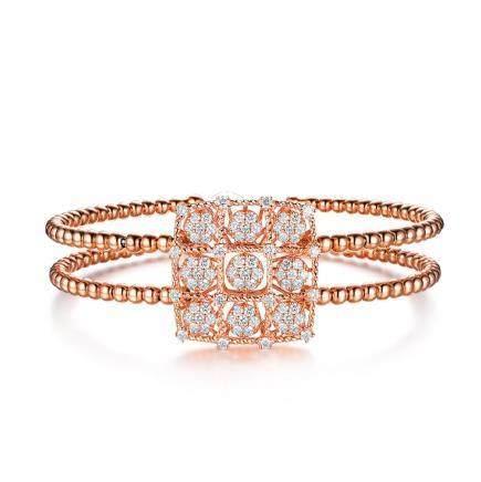 Gold & Diamonds Bangle
