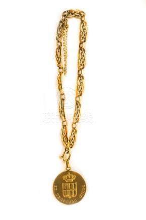 Bracciale in oro giallo con particolare maglia a