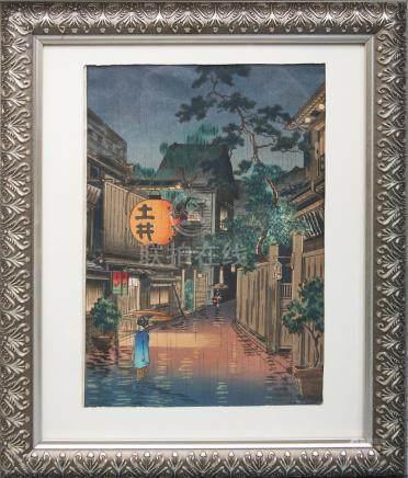 TSUCHIYA KOITSU USHIGOME KAGURAZAKA WOODBLOCK