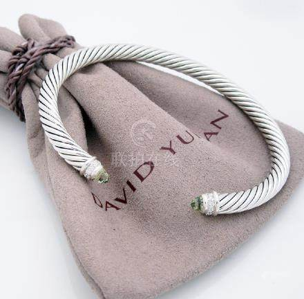 David Yurman 5mm. Classic Cable Diamond Bracelet with