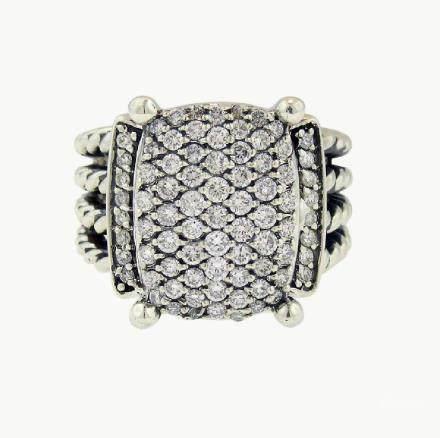 David Yurman Wheaton Sterling Silver & Diamond Ring