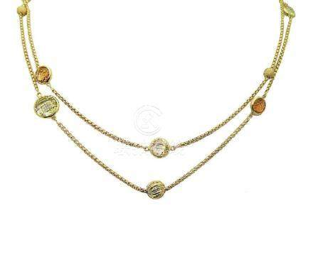DAVID YURMAN 18k Madeira Lime Citrine Chain Necklace