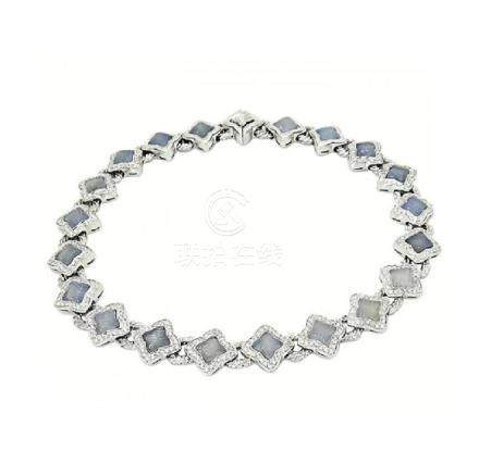 David Yurman 18K White Gold Diamond Necklace