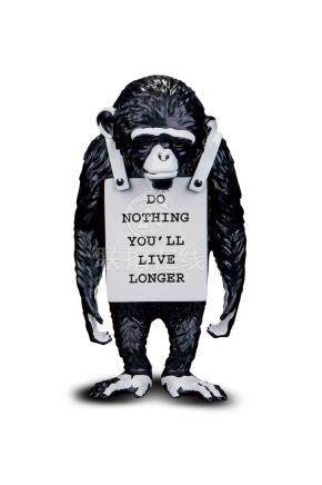 Banksy,Monkey Sign