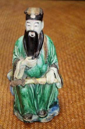 Chinese Famille Verte Figure