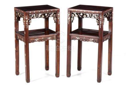A PAIR OF ORIENTAL TABLES