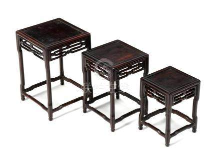 A SET OF THREE ORIENTAL TABLES