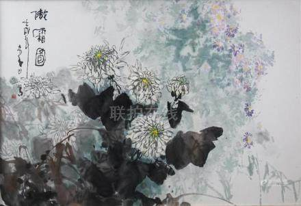 LI SHAN (CHINESE, B. 1926) ELEGANT FROST, 1982 Ink and color