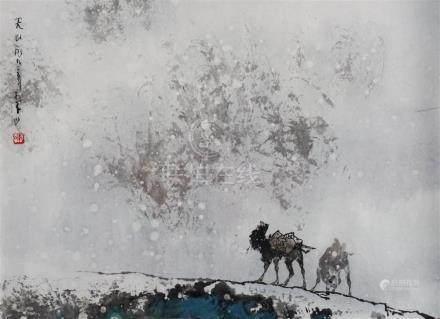 LI SHAN (CHINESE, B. 1926) TIAN SHAN - HEAVENLY MOUNTAIN, 19