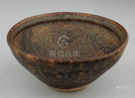 CHINESE JIZHOU HARE'S FUR-GLAZED CONICAL BOWL