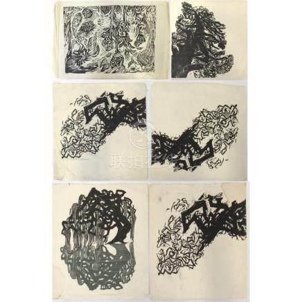 6 Woodcuts by Naoko Matsubara.