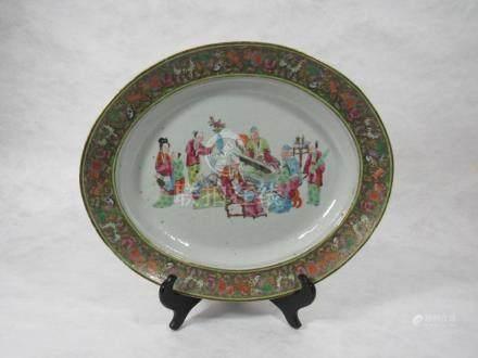 Set of Three Rose Mandarin Platters.