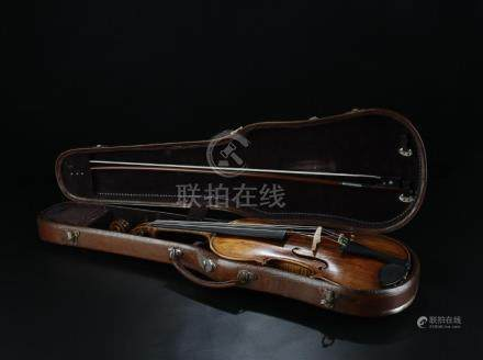 Rare old French made violin; signed