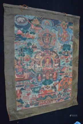 ( Asian Art) Antique Tibetan Thangka