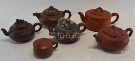 (Asian antiques) Yixing teapots