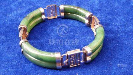 (Asian Jewelry) Chinese bracelet with jade