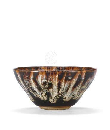 南宋 吉州窯花釉茶盞