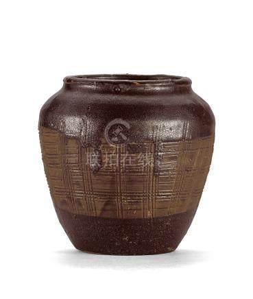 金 磁州窯黑釉油滴罐