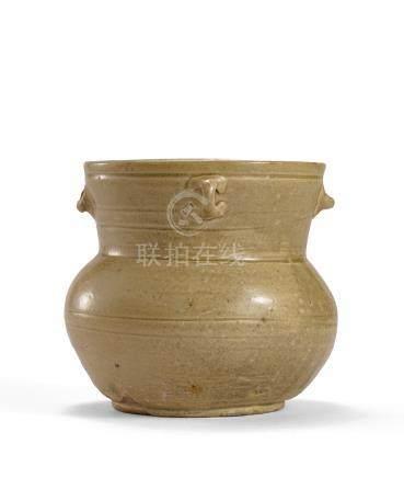 東晉 青釉四繫罐