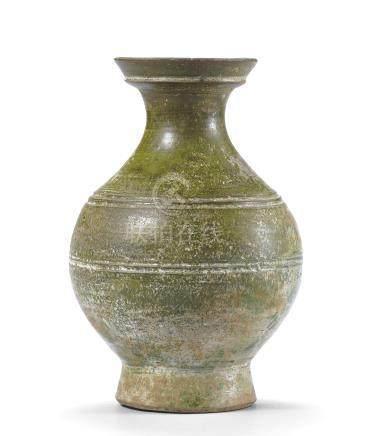 漢 綠釉弦紋壺