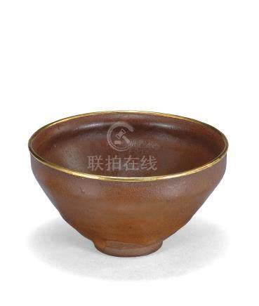 宋 建窯柿釉茶盞