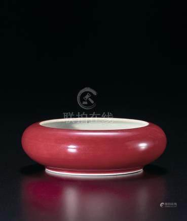 清康熙 豇豆紅釉洗