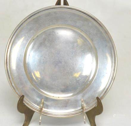 Sterling Silver Dish with Spoon Rest