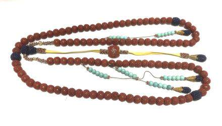 Chinese Coral Beads Court Necklace