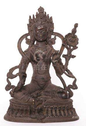 A SINO-TIBETAN BRONZE FIGURE OF TARA