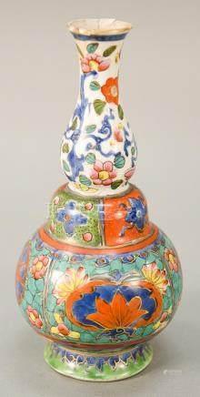 Famille Rose double gourd (huluping) Peranaken vase, China,