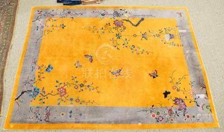 "Chinese Oriental carpet (some wear). 9' x 11'8"""