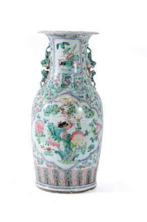 A Cantonese 'Famille Rose' vase, circa 1860