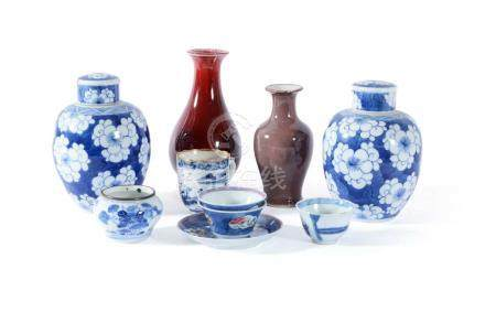 A Chinese blue and white bowl, late Qing Dynasty