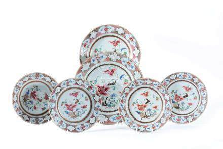 A Chinese 'Famille Rose' dish and other examples