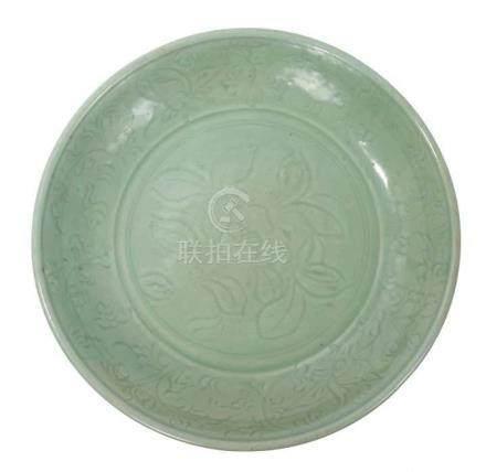 Fine Chinese Ming period Longquan celadon...