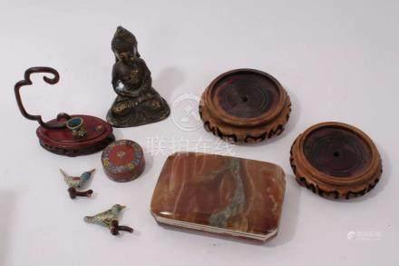 Antique Tibetan bronze figure of Buddha, 13cm...