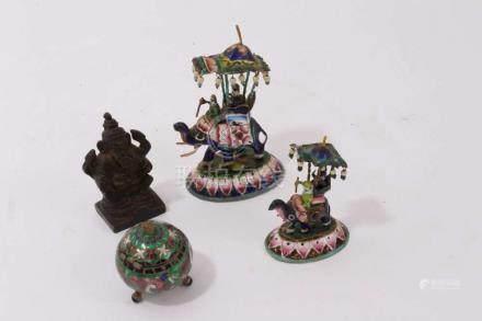 Miniature Indian cloisonné model of an...
