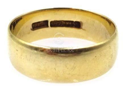 9ct gold wedding band, hallmarked, approx 5.