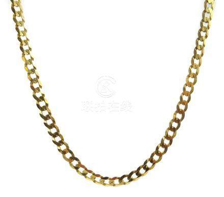 9ct gold flattened curb chain necklace, stamped 375 Condition Report Approx 4.