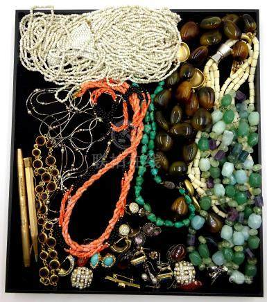 Christian Dior, Attwood and Sawyer and other costume jewellery,