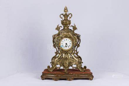 A Fine Gilt Table Clock