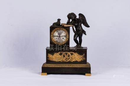 A Gilt-Bronze 'Angel' Table Clock