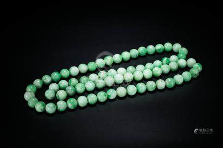 A Jadeite 70 Beads Imperial Court Necklace