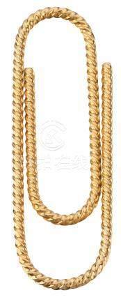 """Pince à billets """"trombone"""" en or jaune  Longueur : 5,5 cm Poids brut : 9,26 g ("""