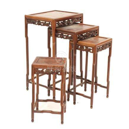 SET OF CHINESE SMALL TABLES, BEGINNING OF THE 20TH CENTURY