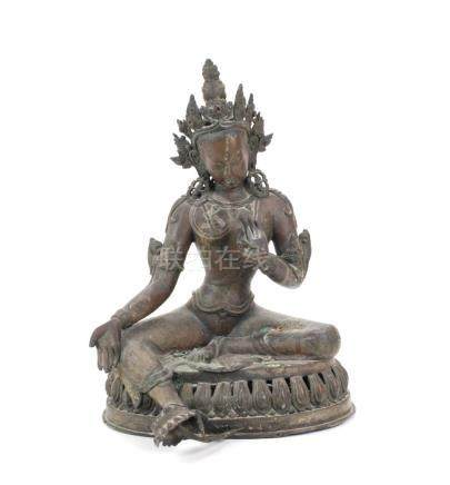 SINO TIBETAN FIGURE OF TARA, 20TH CENTURY