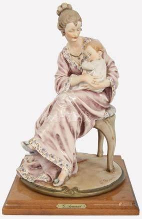 GIUSEPPE ARMANI MOTHER & CHILD PORCELAIN FIGURINE