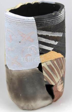 PATRICK SHIA CRABB DESERT ART RECONSTRUCTED VASE