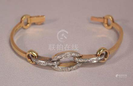Beautiful Art Deco 18k Gold 29.5 Grams 28 Diamonds 1.68 Cara